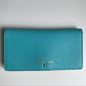 Kate Spade Wallet In Turquoise/red